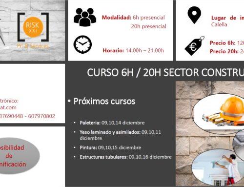 CURSO DE 6H/20H DEL SECTOR DE LA CONSTRUCCIÓN