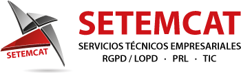 SETEMCAT. Servicios LOPD y Prevención Riesgos Laborales Logo