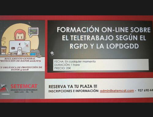 EL TELETRABAJO SEGÚN EL RGPD/LOPDGDD